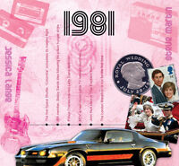 36th Birthday or Anniversary Gift - 1981 Compilation Pop CD andGreetings Card