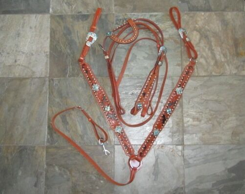 Western Set  Bridle and breast collar Fullhorse MANY ColoreeeS
