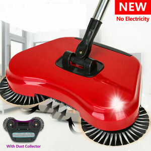 SPIN-SWEEPER-BROOM-ROTATING-HARD-FLOOR-CLEANING-MOP-AUTOMATIC-BRUSH-CLEANER-360