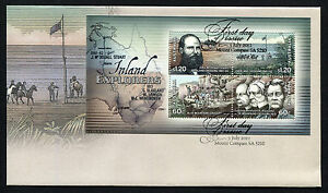 2012-Inland-Explorers-Minisheet-FDC-First-Day-Cover-Stamps-Australia