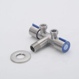 Doppelanschluss-Eckventil-Kombiventil-Geraeteventil-3-Wege-Wasserabscheider