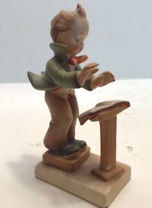 "I Creative Geobel M Hummel ""band Leader"" Figurine 129 Made In Germany 5 Quality First"