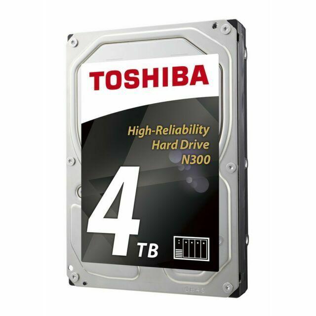 """- 3.5/"""" Drive SATA//600 Internal SATA Toshiba N300 4 TB Hard Drive"""