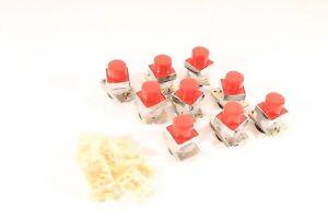 9x alter Schalter Taster Einbauschalter 9 Stück als Set