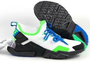 new concept 234f3 9d6ea Image is loading Nike-Air-Huarache-Drift-White-Black-Blue-Scream-