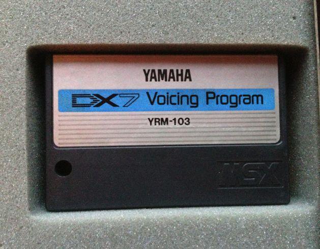 NEW YAMAHA CX5M YRM-103 DX7 VOICING PROGRAM CARTRIDGE ADAPTER   FM Sound Neu Rar