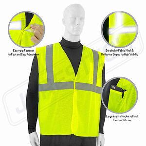 SAFETY VEST ANSI CLASS 2/ Reflective Tape/ High Visibility Yellow JORESTECH