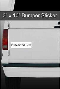 Custom Made Bumper Stickers Any Design Car Decal Window - Custom made car stickers