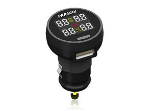 New Papago TPMS 100 TPMS DIY External Tyre Pressure Monitoring System -Free Ship