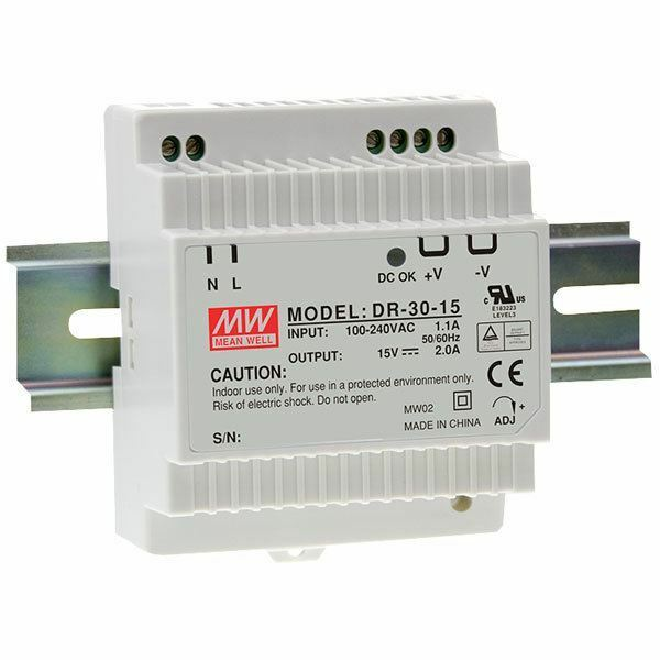 MEAN WELL NEW HDR-30-5 5V 3A 15W DIN RAIL POWER SUPPLY POWERNEX