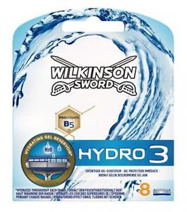 8x Wilkinson Sword Hydro 3 Rasierklingen Ersatz Klingen für Herren Rasierer NEU