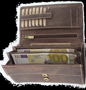 Geldbörse Naturleder Damenbörse RFID/NFC Geldbeutel Portmonai Damenbrieftasche