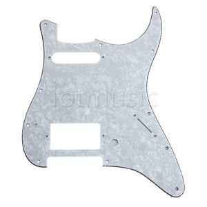 Elektrische-Gitarre-HS-White-Pearl-Pop-Scratch-Platte-fuer-Fender-Strat-3-Ply