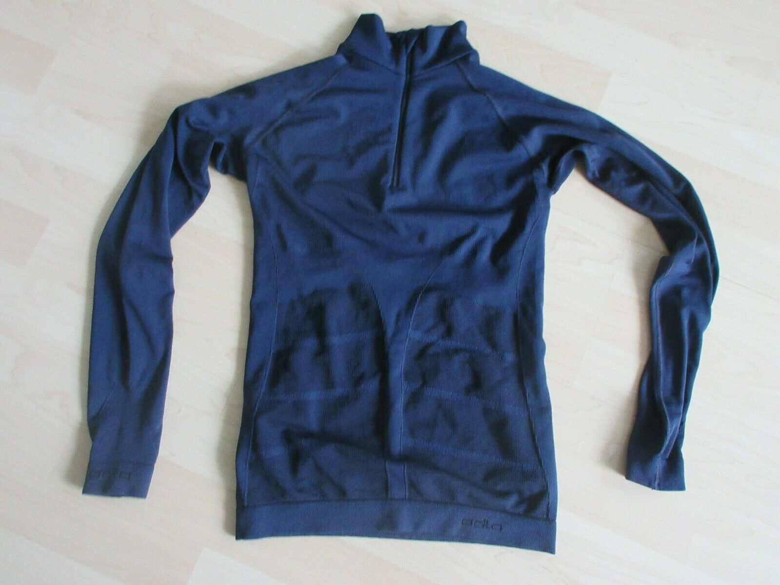 Odlo Longsleeve Evolution Warm Turtle Neck 1/2 Zip Gr. M blau Herren (  )