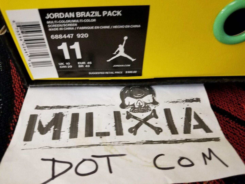 NEW Jordan VI & CP3 VII Brazil Pack Box Size 11 NIB DS Nike Air 6 7