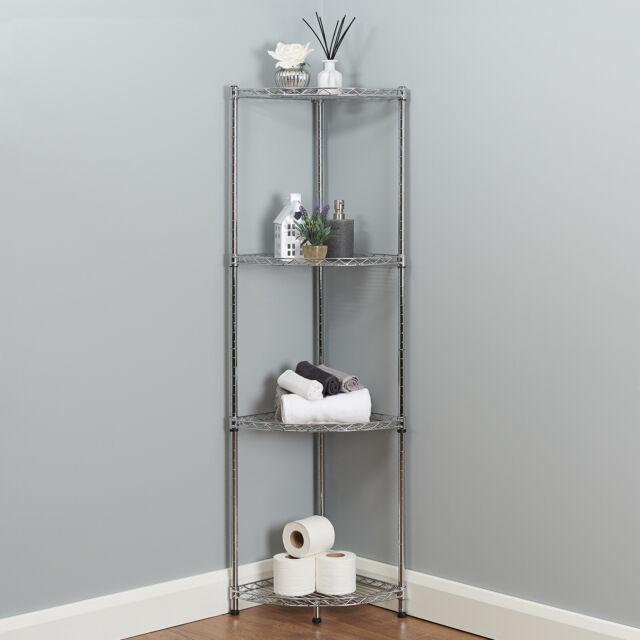3 Tier Corner Bathroom Storage Metal