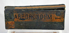 Vintage Carborundum Silicon Carbide Sharpening Honing Stone No. 109 w/ Box