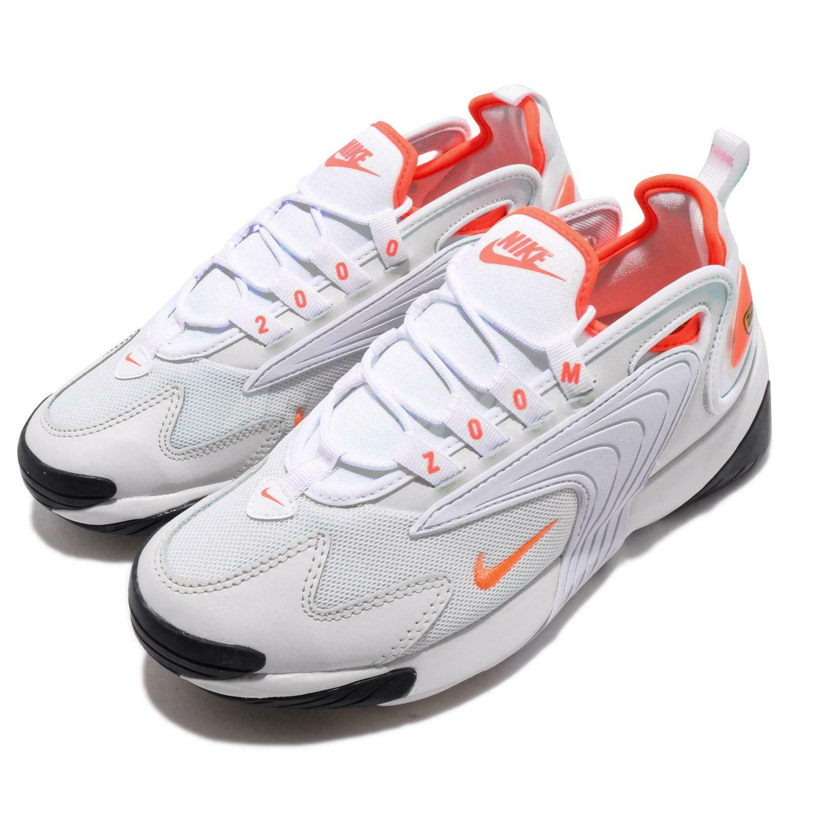 Nike Wmns Zoom 2K Platinum Tint White orange Womens Running shoes AO0354-002