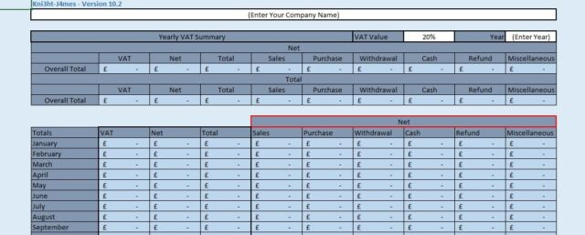Business VAT Return Preparation Spreadsheet Template | eBay