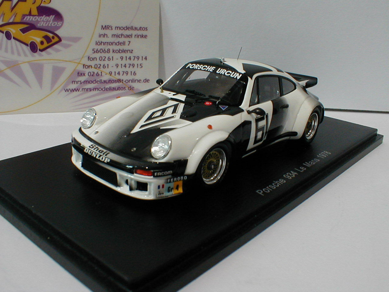 SPARK s5091-PORSCHE 934 no. 61 24h LEMANS 1978 Chasseuil, Lefebvre 1 43 NUOVO