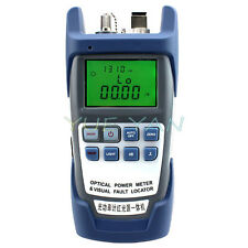 New All In One Optical Power Fiber Meter Amp 10mw Visual Fault Locator