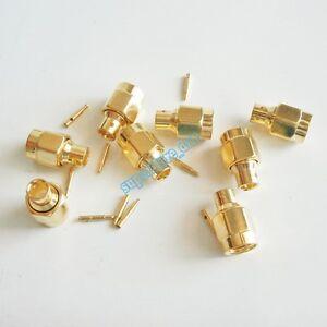 10Pcs-SMA-solder-plug-Male-straight-connector-For-semi-rigid-RG402-0-141-034-cable