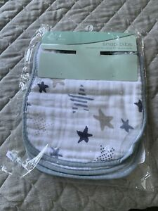 Aden and Anais Classic Snap Bibs 3pk Newborn Rock Star Baby Gift Free Shipping