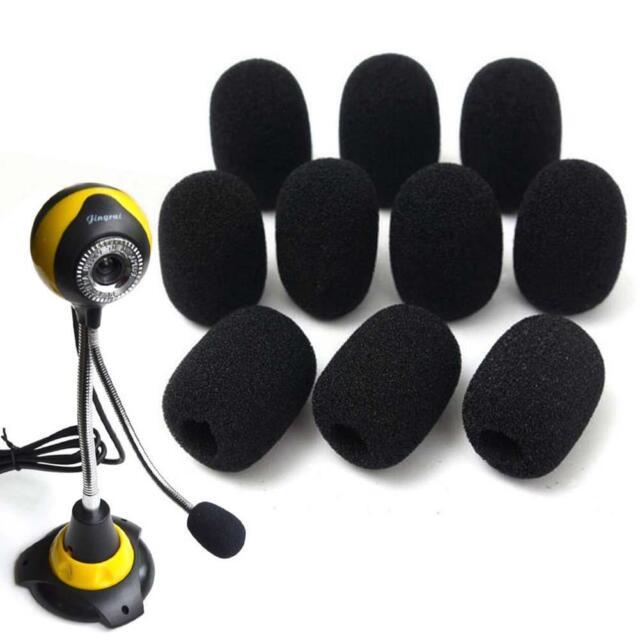 10PCS Microphone Headset Grill Windscreen Sponge Foam Pad Black Mic Cover Hot GA