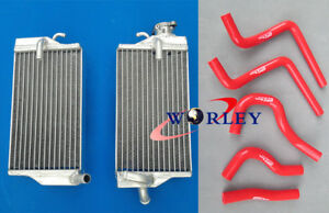 For 2004 Honda CR125 CR125R CR 125 04 2004 Aluminum radiator and silicone hose