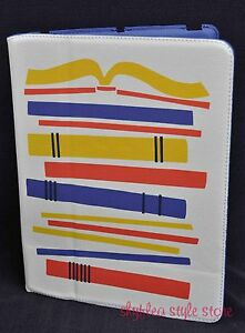 Fossil-iPad-Easel-Case-Stand-Books-Tech-Tablet-Fashion-Library-Writer-New-2-3-4