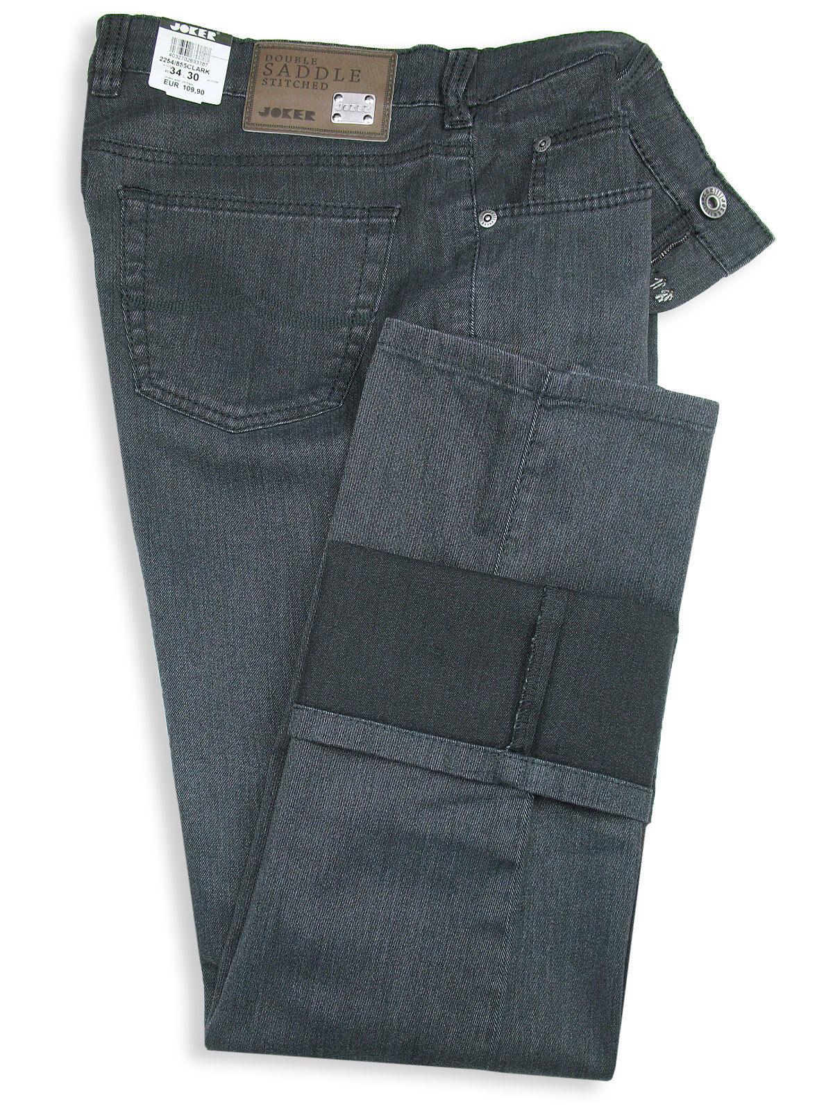 Joker Jeans Clark (Comfort Fit) 2254 855 Dark Grey Dark Grey Stretch