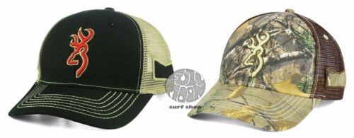 New Browning Caddy Camo Mesh Back Trucker Snapback Cap Hat