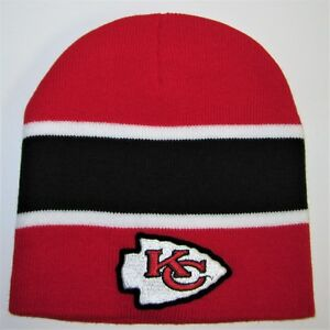 3761d4248 Details about Kansas City Chiefs Beanie ~Knit Hat ~Classic NFL Patch/Logo  ~Cool ~NEW