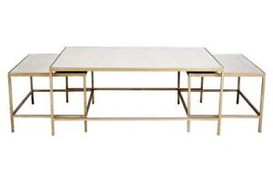 Antique Gold Frame Coffee Table 2 Nested Side Tables Antique Mirror