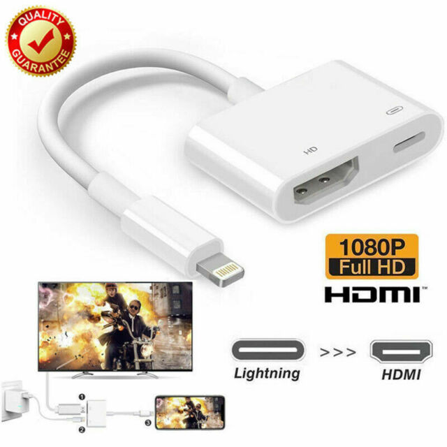Lightning to HDMI Digital AV TV Cable Adapter For iPad iPhone X 6 7 8 Plus US