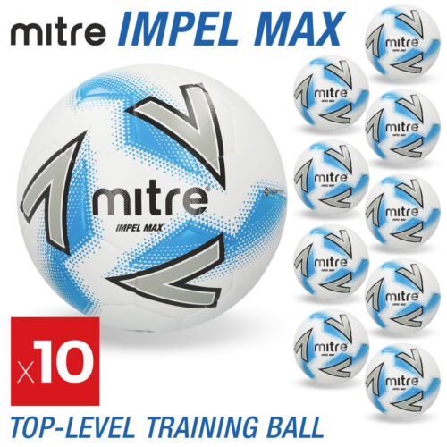4 /& 5 Sizes 3 Details about  /10 x Mitre Impel Max Footballs White Brand New
