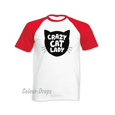 Crazy Cat Lady! Funny T-shirt Lots of colours and sizes