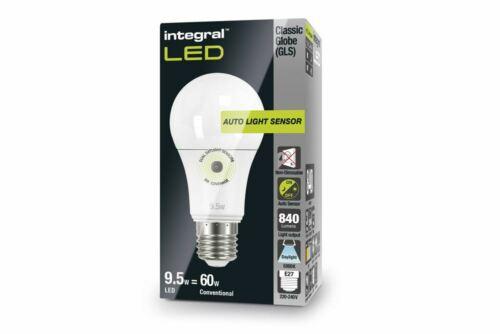 LED Auto Sensor Classic Globe 5000K 840lm E27 Lamp 8.5W GLS 60W