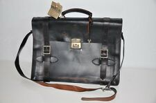 Ralph Lauren RRL Made in Italy Distressed Leather Executive Briefcase Bag