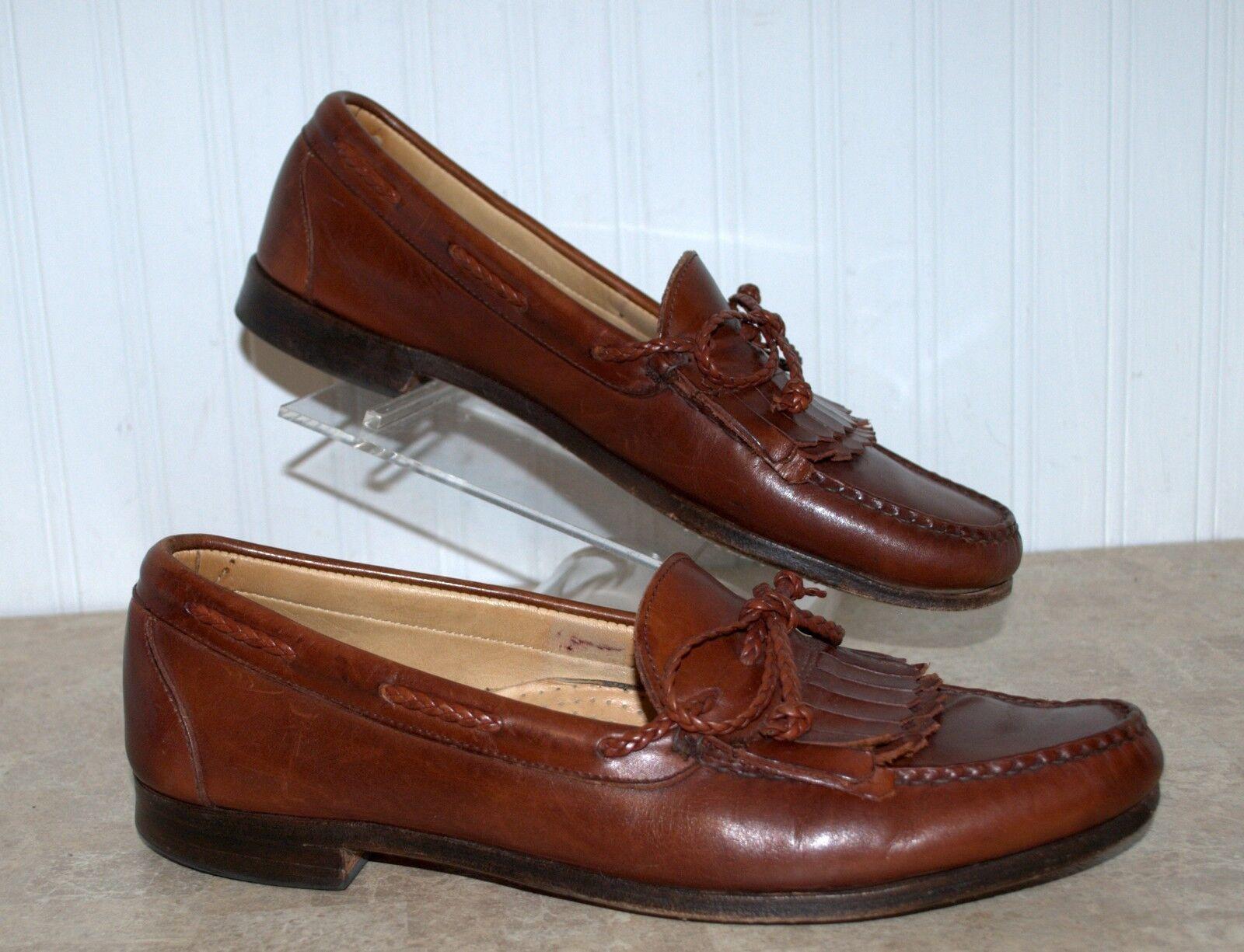 Allen Edmonds Woodstock Woodstock Woodstock 11.5 B Mans Shoes Loafer Chili Brown Pelle Kilt Top 671247