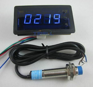 4-Digit-Blue-LED-Counter-Meter-with-Relay-Output-Proximity-Switch-Sensor-NPN-12V