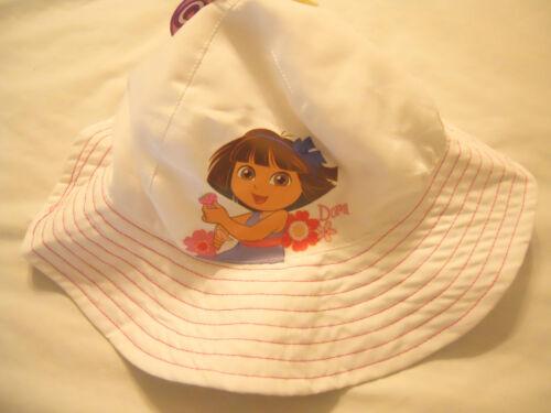 Baby Girls Bucket Hats Sun Hat UPF 50 Toddlers Kids White Pink Dora The Explorer