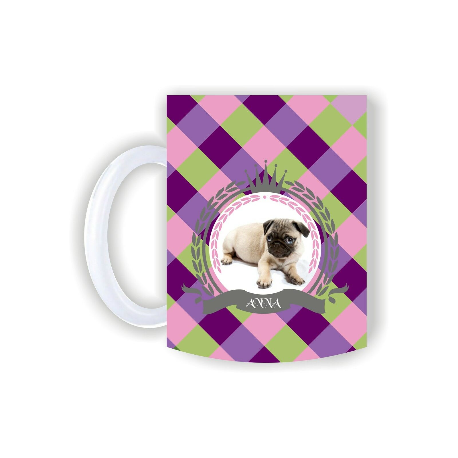 Mops-Tasse with Names English Bulldog French Bully Cup Mug Dog Photo