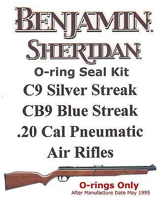 Benjamin Sheridan CB9 Blue Streak C9 Silver Streak 20cal O Ring Seal Kit 753070847159 EBay