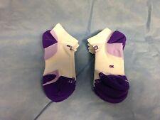 6 Pr Women's Road Runner MicroFiber ELITE Running Socks Purple/White..5-7 M