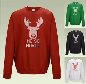 Mi-tan-caliente-Gracioso-Sudadera-JH030-grosero-Ugly-Christmas-Jumper-Reno-Rudolph