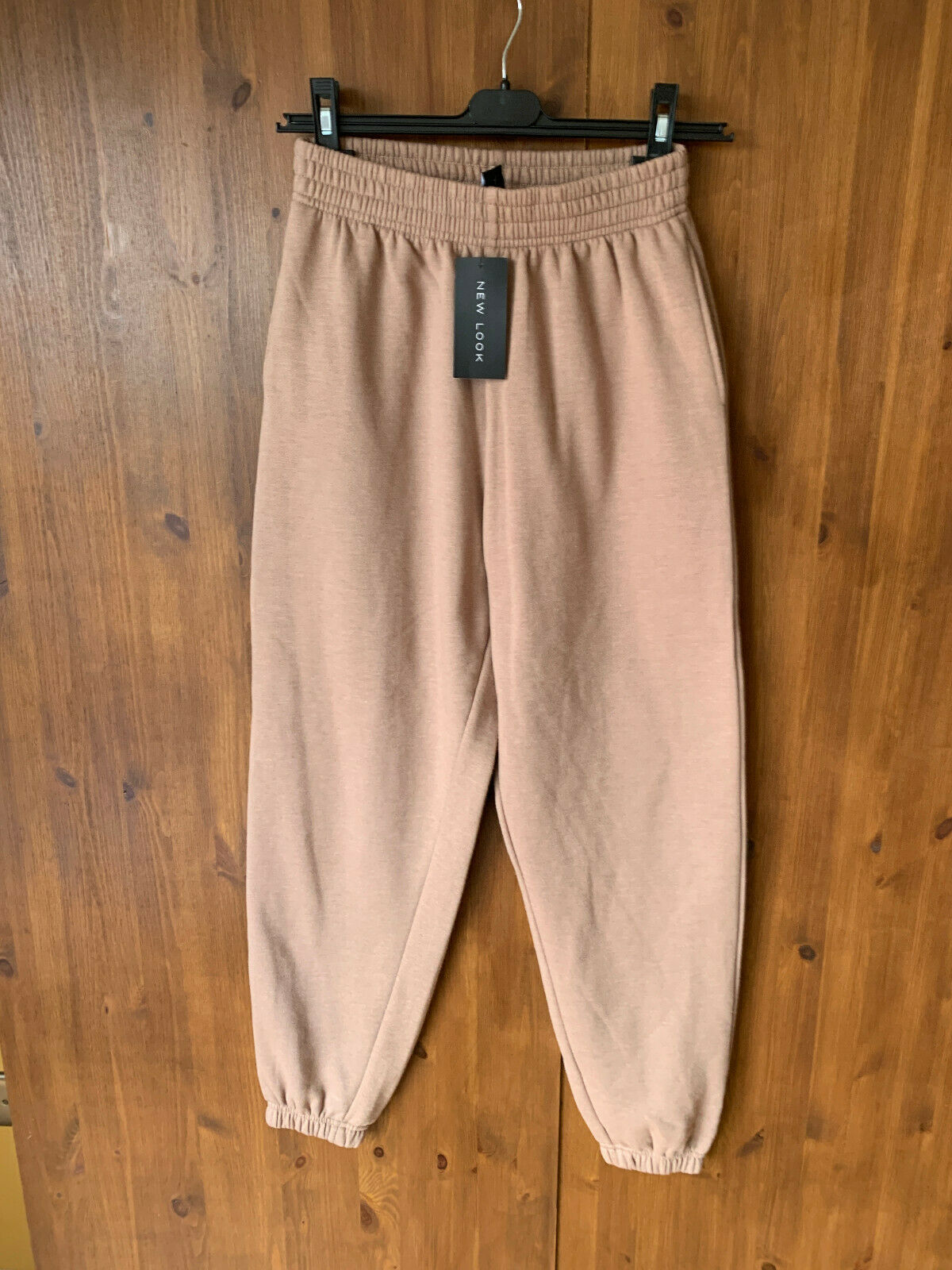 AW 2020 - NEW LOOK JOGGERS Tan Brown Cuffed Trousers Jersey UK 8 / 36 - BNWT