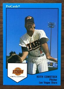 1989-ProCards-KEITH-COMSTOCK-14-Las-Vegas-Stars-SET-Original-Shot-to-Nuts-ESPN