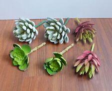 6 Mini Artificial Desert unkillable Succulents Plants