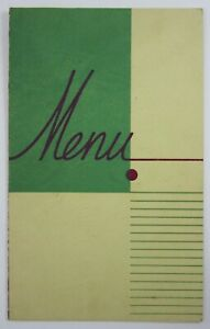 Vintage Coffee Shop Restaurant Menu The New Motel Bakersfield CA 1950-60s